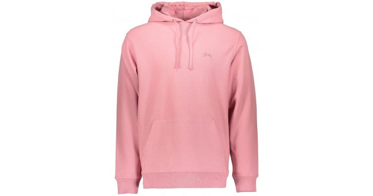 a96999d62735 Stussy Stock Terry Hoodie in Pink for Men - Lyst