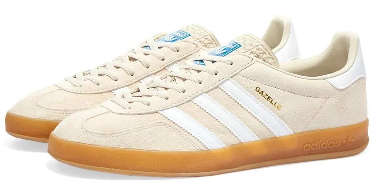 Adidas Gazelle Indoor Clear Brown, White & Gum Shoes for men