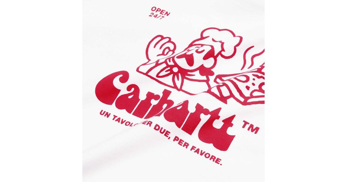 Red S//S Bene T-Shirt Black Carhartt WIP