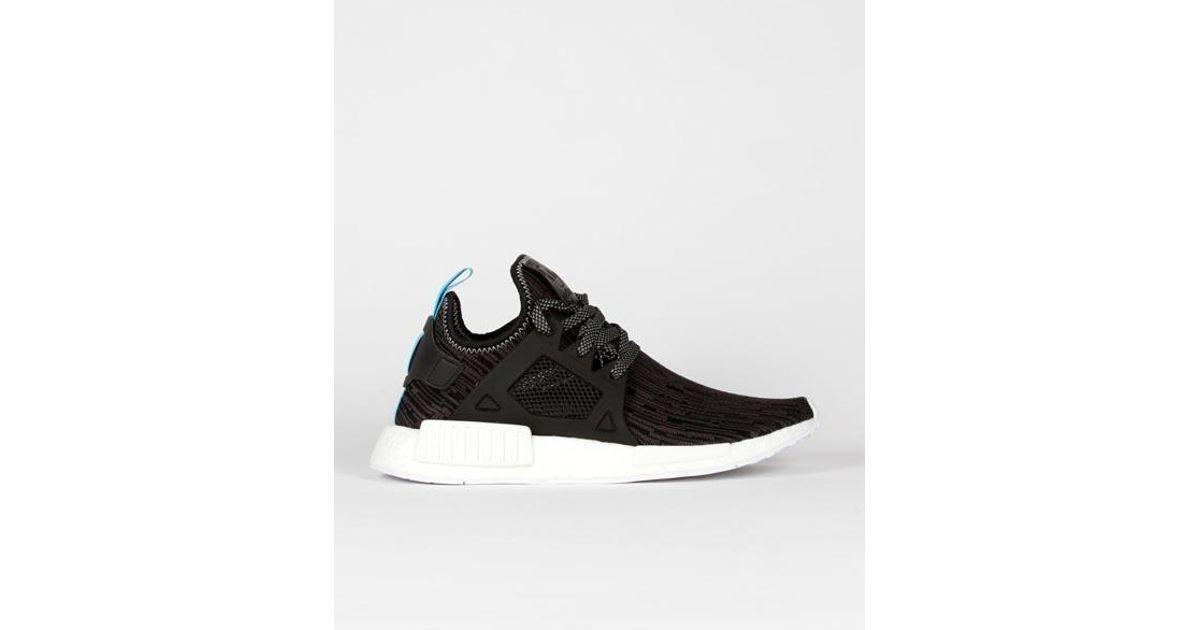 Adidas Core Black And Lite Blue Canvas Originals Nmd Xr1 Pk Shoes for Men Lyst
