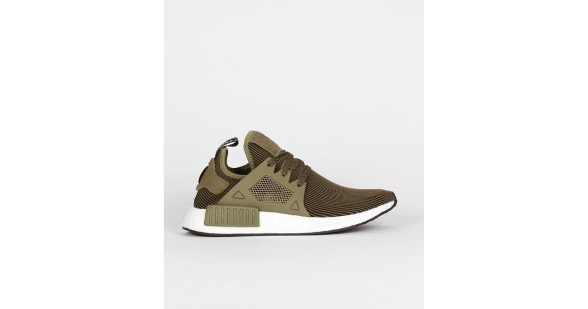 the latest 2e2f3 66e57 Adidas Green Olive Black Nylon Originals Nmd Xr1 Pk Shoes for men