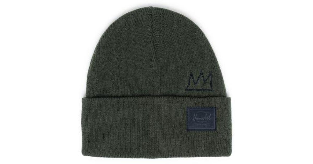 Herschel Supply Co Cardiff Beanie Charcoal Headwear Beanies Clothing, Shoes & Accessories