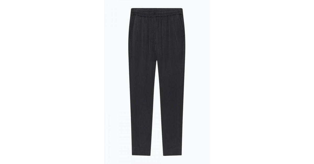 agitación mordedura Anémona de mar  American Vintage Carbon Cupro Ipipiwood Pants in Grey/Black (Black) - Lyst