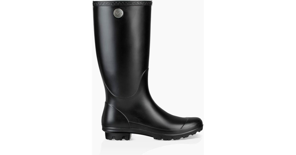 57e724b4bf8 Ugg Black Shelby Matte Rain Boots