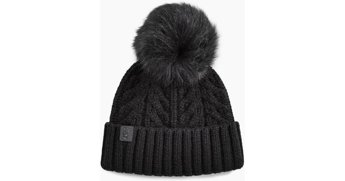 b6338e20dde UGG Cable Pom Beanie Cable Pom Beanie in Black - Lyst