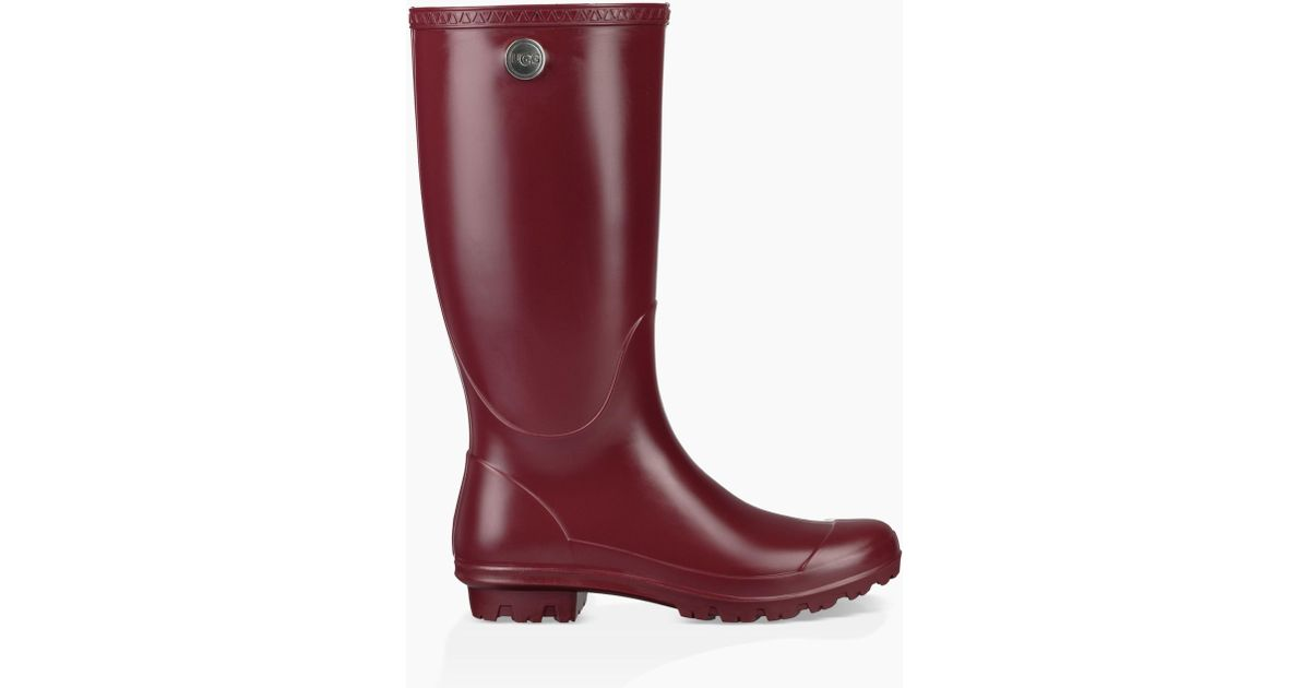 2b71f21ce75 Lyst - UGG Ugg Shelby Matte Waterproof Rain Boot in Red - Save 1%