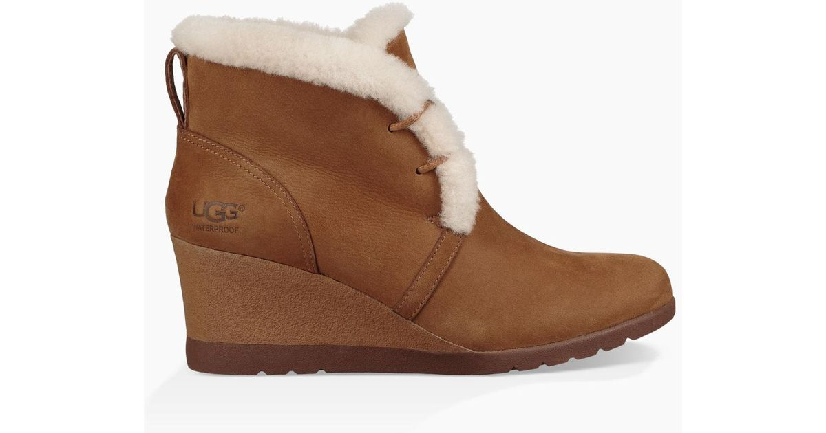 8c89a9b2cca Ugg Brown (r) Jeovana Waterproof Genuine Shearling Lined Boot (women)