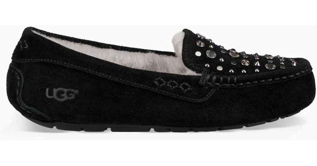 b5d125660d2 Ugg Black Ansley Studded Bling Slipper Ansley Studded Bling Slipper