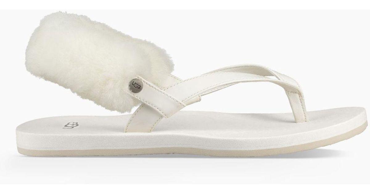 6d4b1e38ca06 Lyst - UGG Women s Laalaa Sandal in White