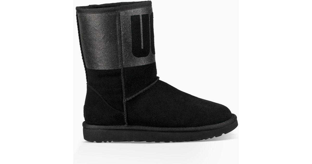 d4235c03d53 Ugg Black Classic Short Sparkle Boots