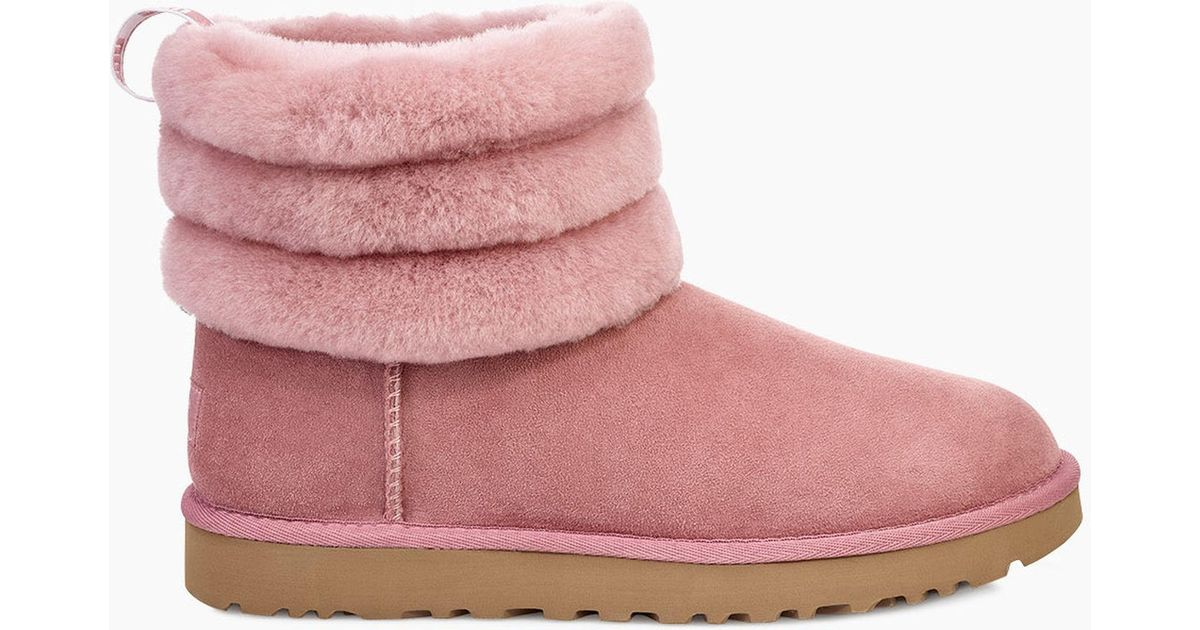 UGG Suede W Fluff Mini Quilted Lantana