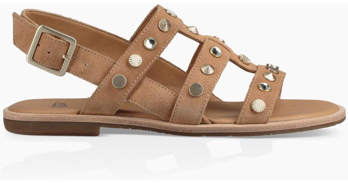 33ea67cd50b0 Lyst - UGG Zariah Studded Bling Sandal Zariah Studded Bling Sandal in Brown