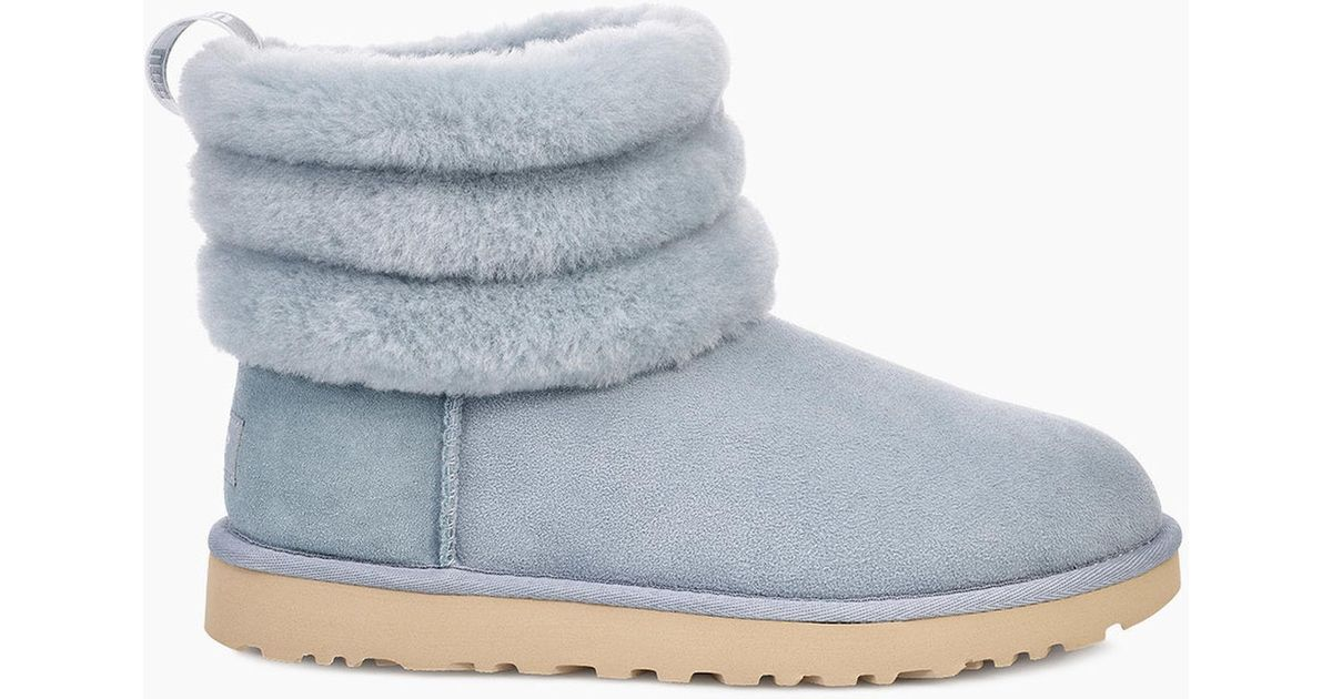 aeeceb581ea Ugg Blue Women's Fluff Mini Quilted Logo Boot