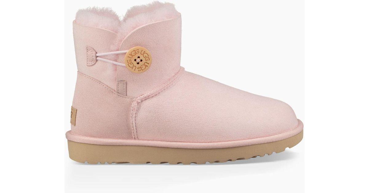 57339baf51e Ugg Pink Mini Bailey Button Ii Boot Mini Bailey Button Ii Boot