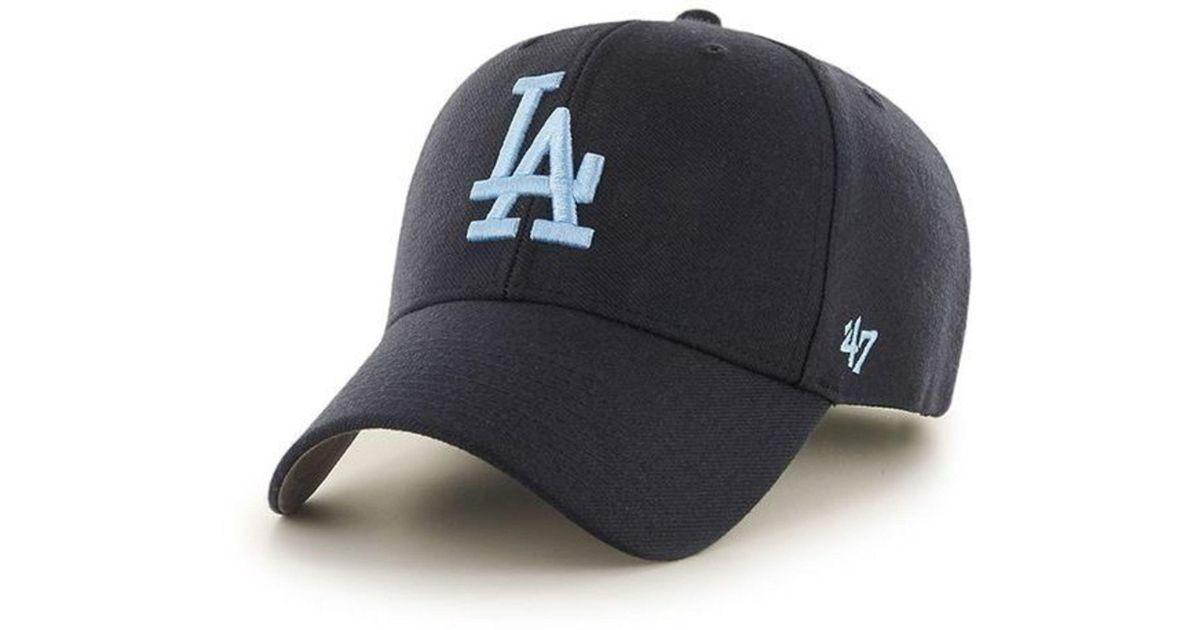06d7363266e 47 Brand Mlb Los Angeles Dodgers  47 Mvp Adjustable Velcro Strap Baseball  Cap in Blue for Men - Lyst