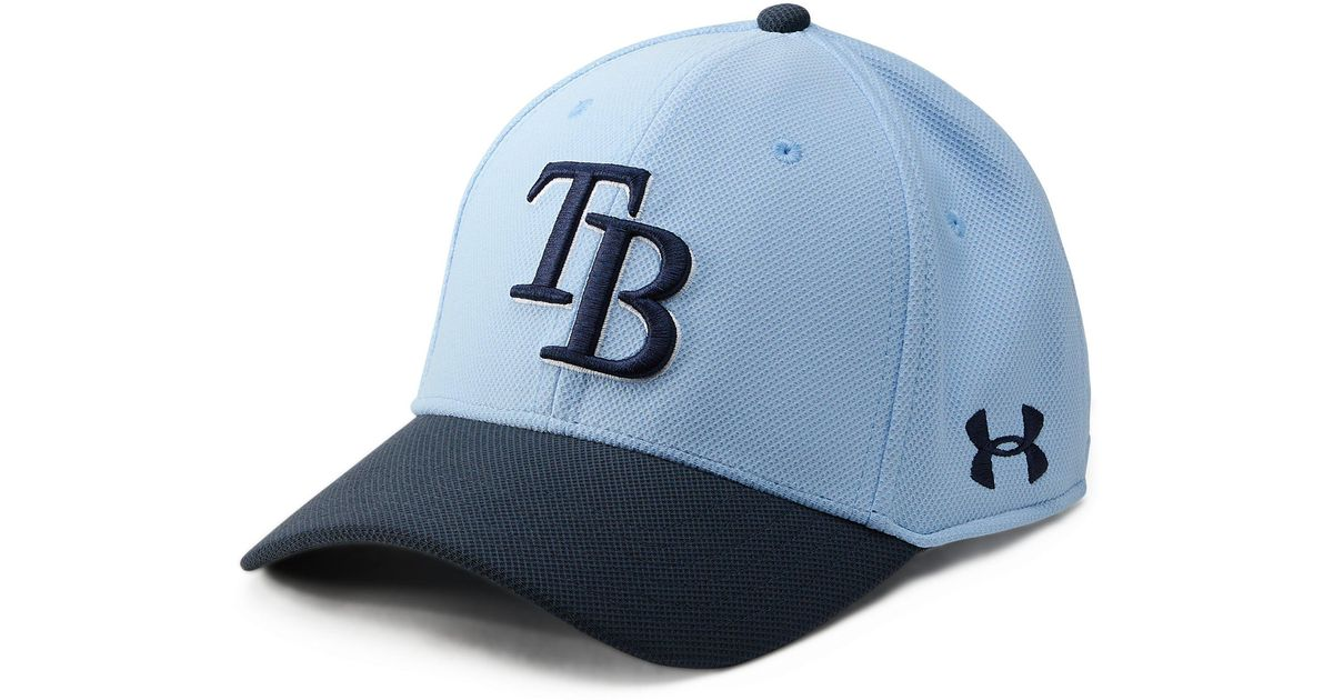 63629e4fe6a Lyst - Under Armour Mlb Adjustable Blitzing Cap in Blue for Men