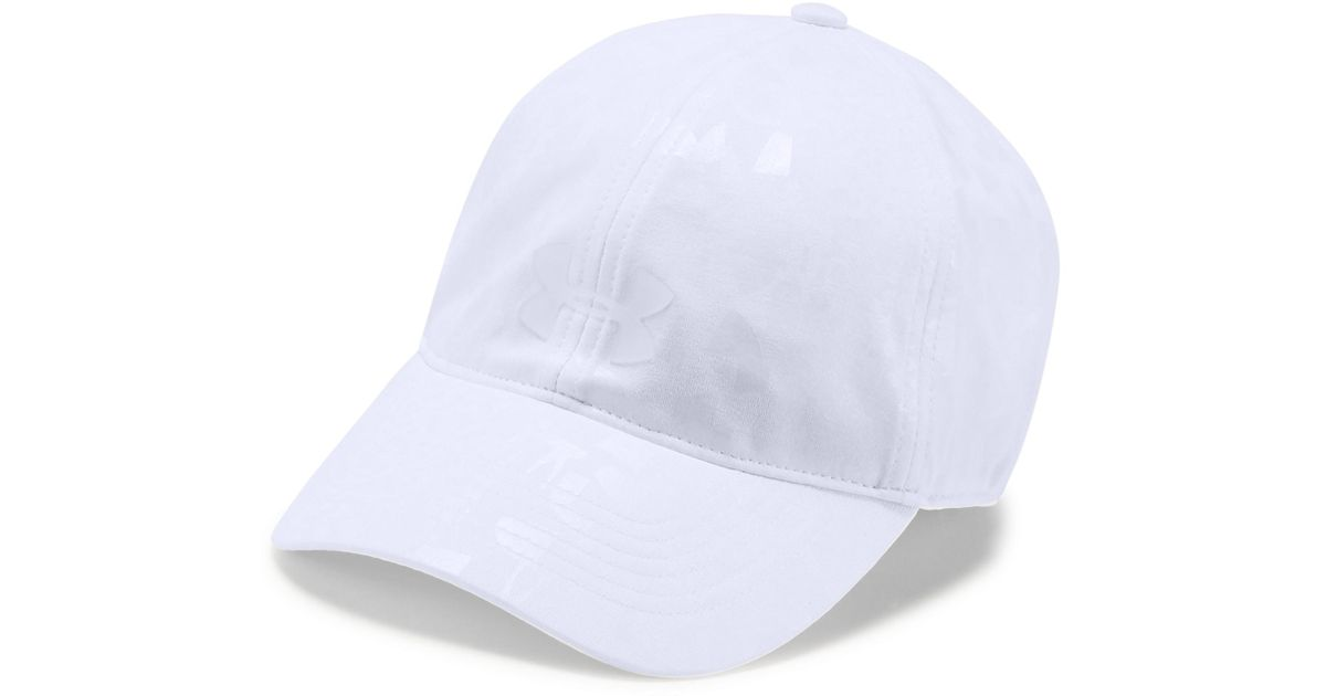 promo code 87ea5 f7711 Under Armour Women s Ua Microthread Renegade Printed Cap in White - Lyst