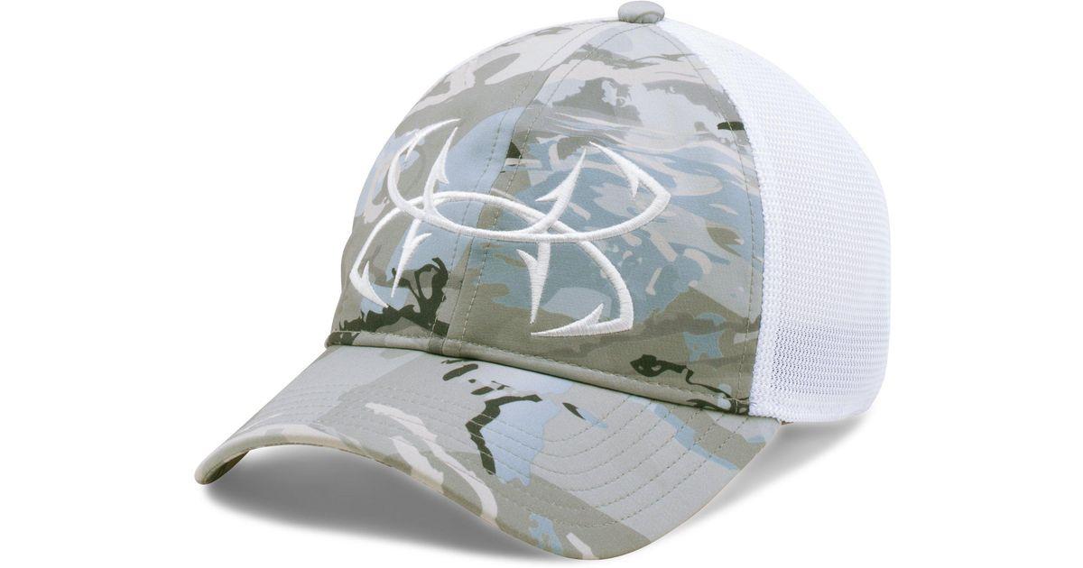 Under armour men 39 s ua fish hook camo adjustable cap for for Under armour fish hook hat