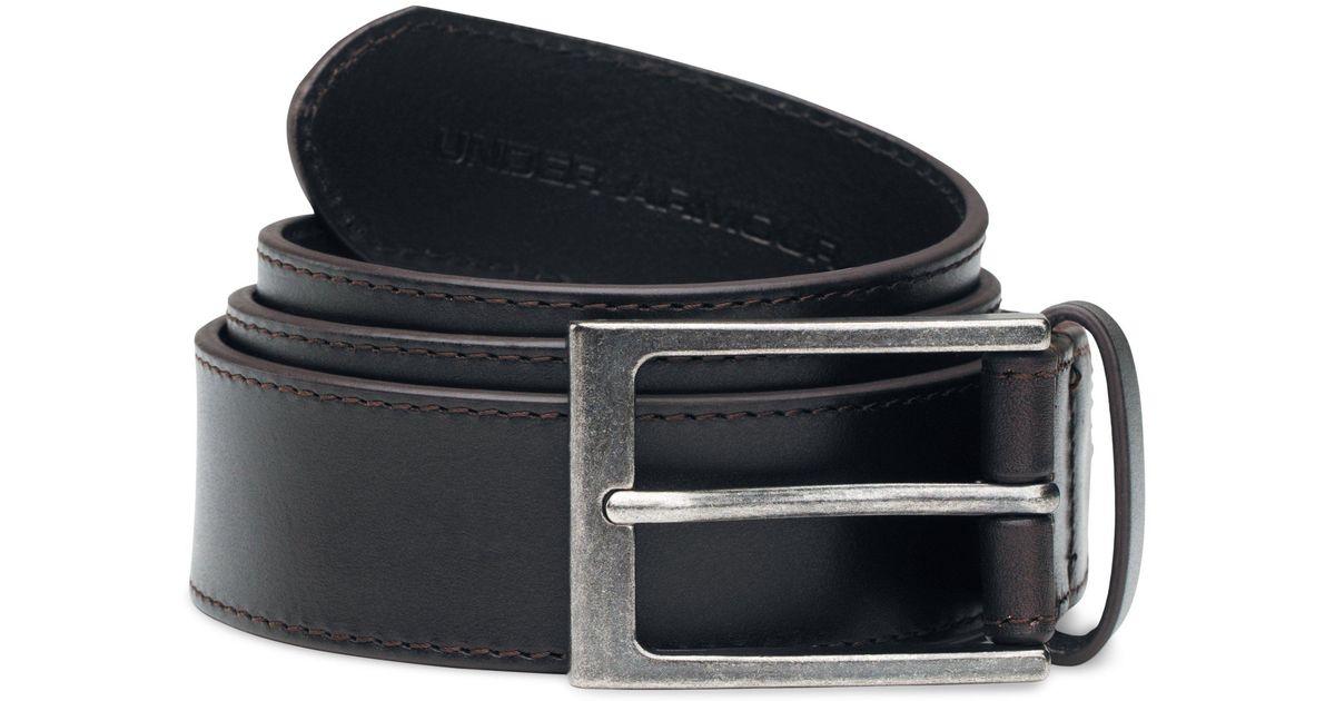 42d8a166e68 Lyst - Under Armour Men s Ua Stretch Leather Belt in Black for Men