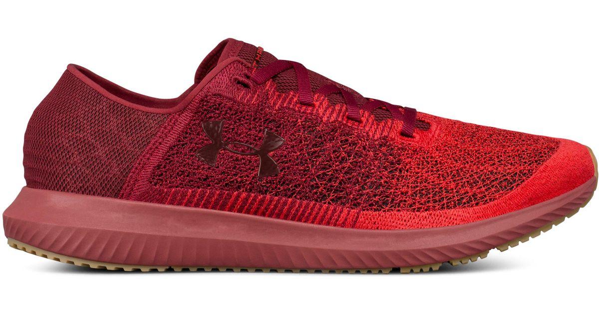 07fb3e8f99 Under Armour Red Threadborne Blur Sneaker for men