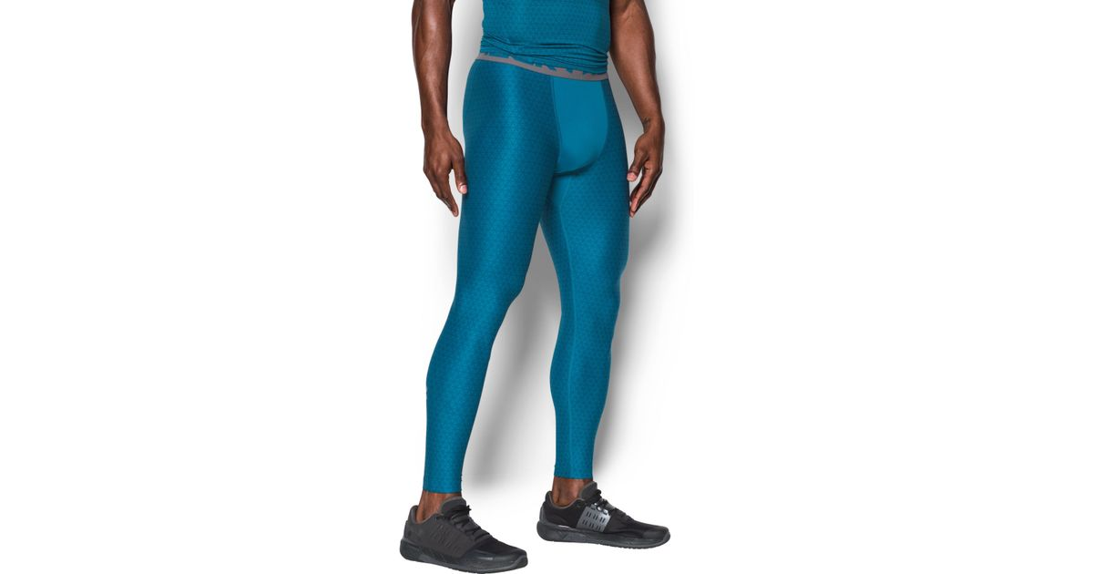 08be596fdb Lyst - Under Armour Men's Heatgear® Armour Printed Compression Leggings in  Blue for Men