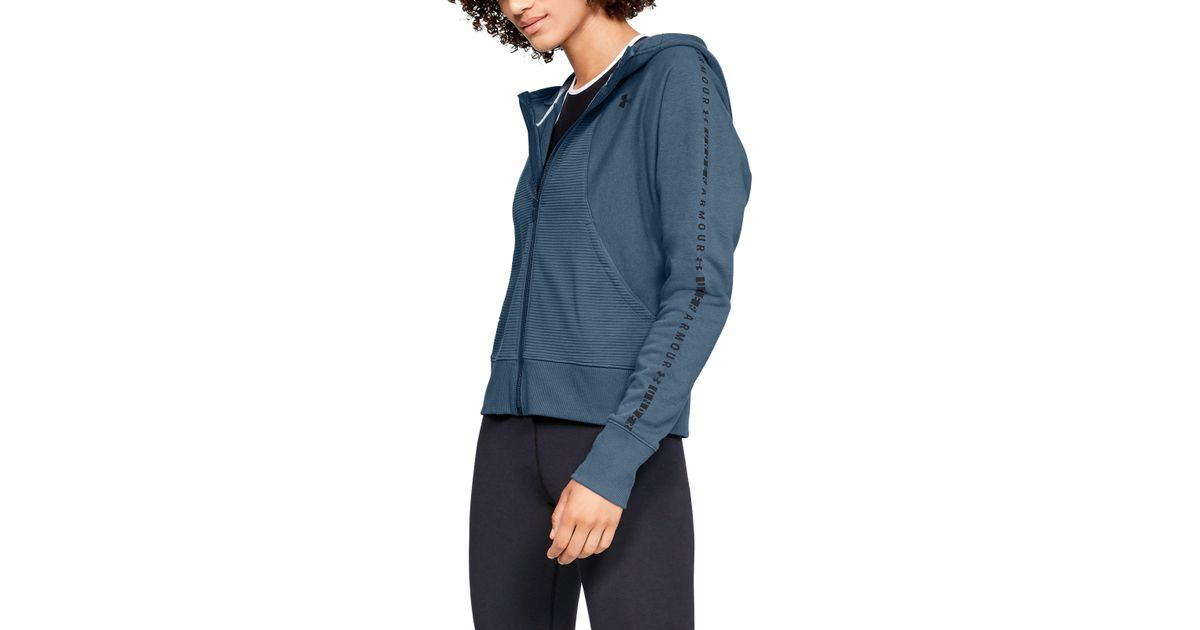 Clothing Under Armour Womens Microthread Fleece Graphic Full Zip Hoodie