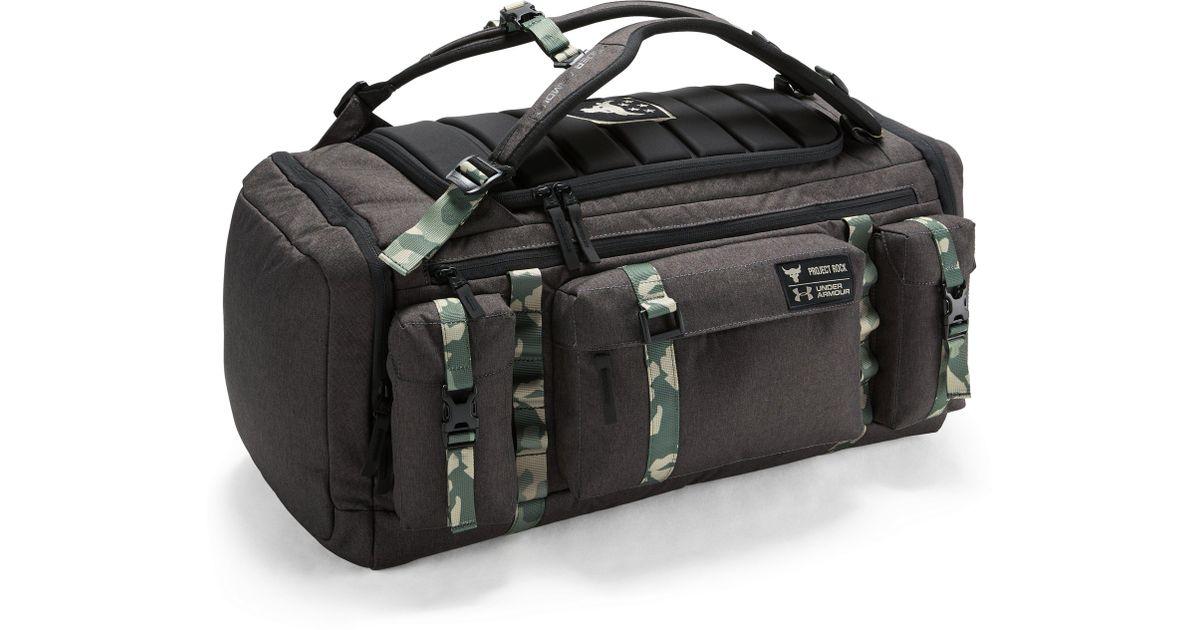 Lyst - Under Armour Ua X Project Rock Usdna Range Duffle in Black for Men e1d9d05b4f54e