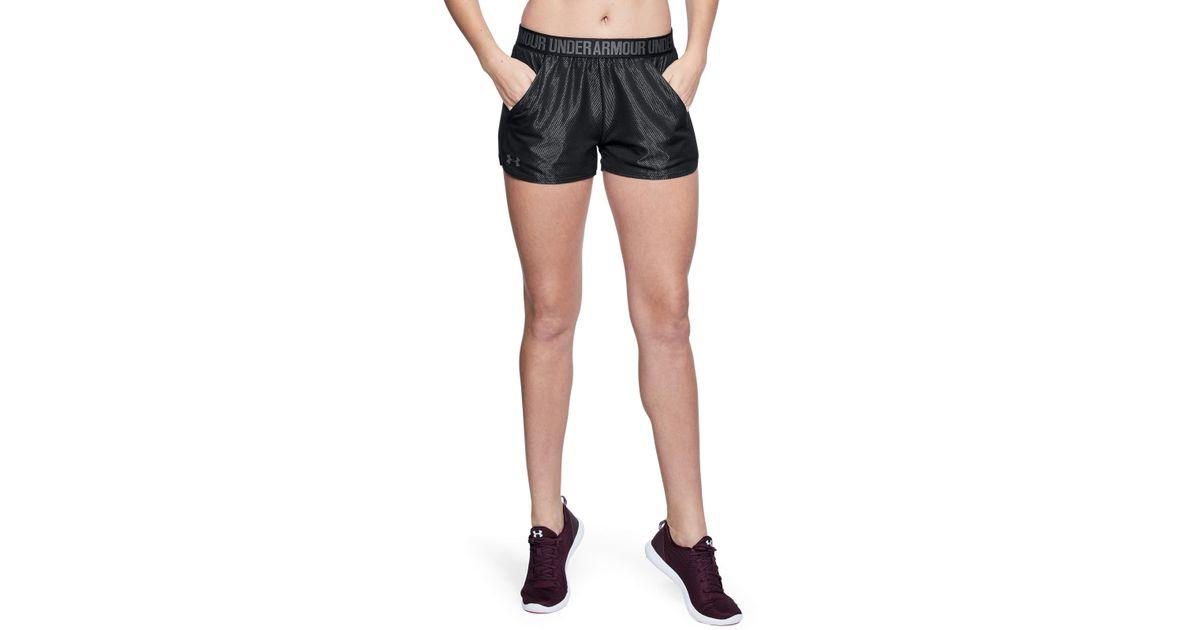 4ec6e4ca30 Under Armour Black Women's Ua Play Up Shorts Metallic