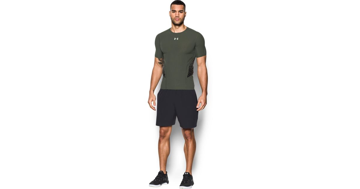 63f8d5f50c Under Armour Green Men's Heatgear® Armour Zone Compression Short Sleeve for  men