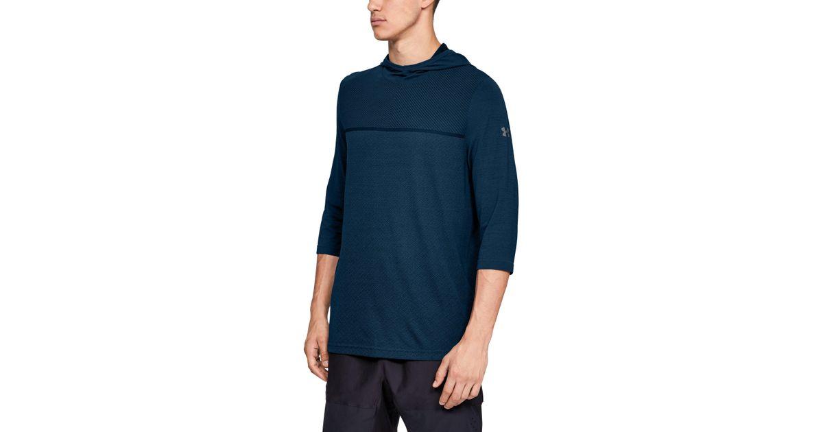 932f79b380 Under Armour Blue Men's Ua Vanish Seamless 3⁄4 Sleeve Hoodie for men