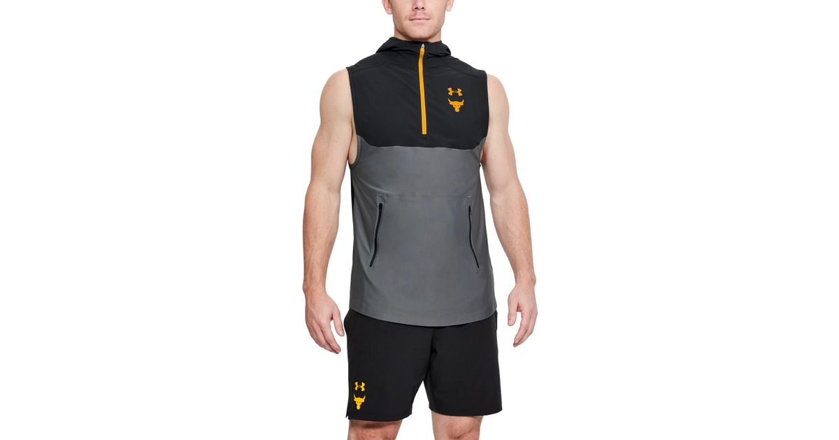d86068d75b320 Lyst - Under Armour Men s Ua X Project Rock Vanish Sleeveless Hoodie in  Black for Men