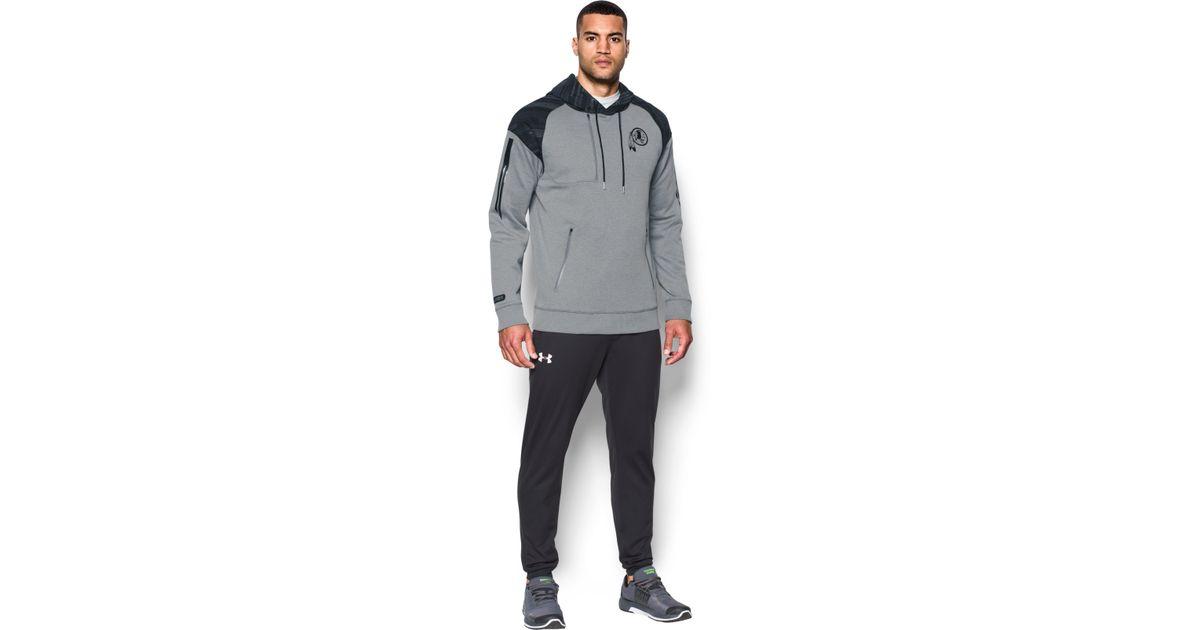 sale retailer c10d6 baf55 Under Armour - Gray Men's Nfl Combine Authentic Ua Pinnacle Hoodie for Men  - Lyst