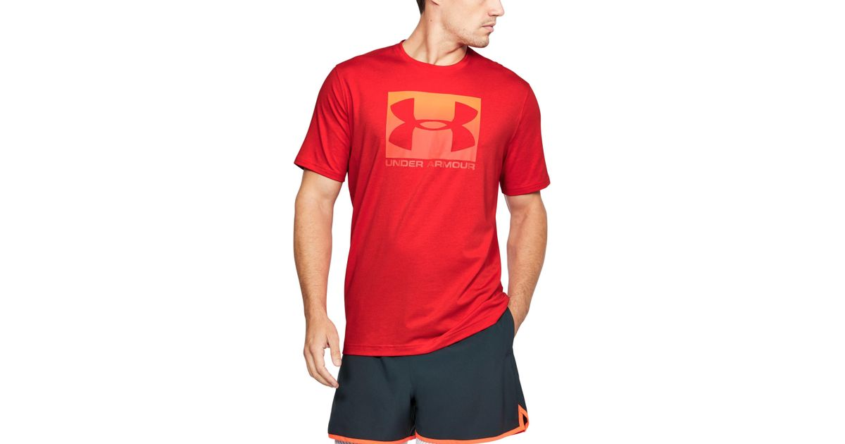 Lyst Under Armour Men S Ua Boxed Sportstyle T Shirt In Red For Men