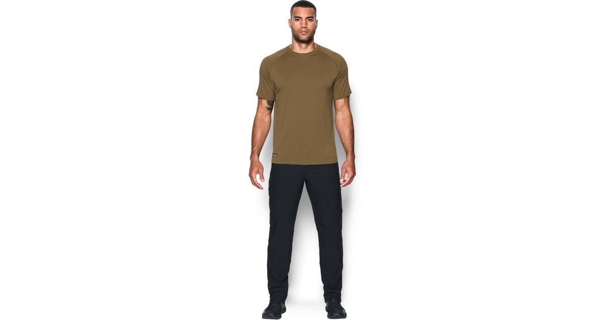 acf2240012ba Lyst - Under Armour Men s Ua Tactical Techtm Short Sleeve T-shirt in Brown  for Men