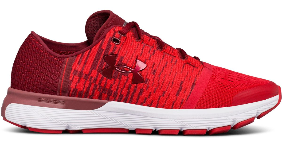 new style 63993 8cfe2 Under Armour Red Speedform Gemini 3 Graphic Running Shoes (1298535) for men
