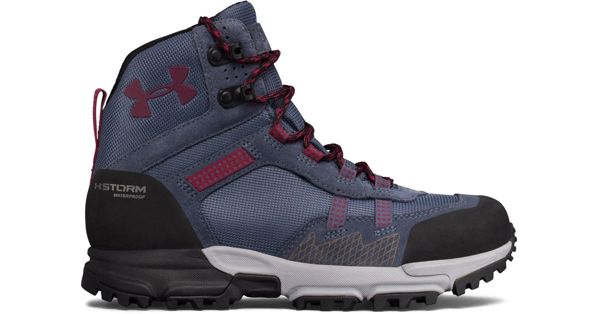 d9fb1f3cfe5 Under Armour Blue Women's Ua Post Canyon Mid Waterproof Hiking Boots