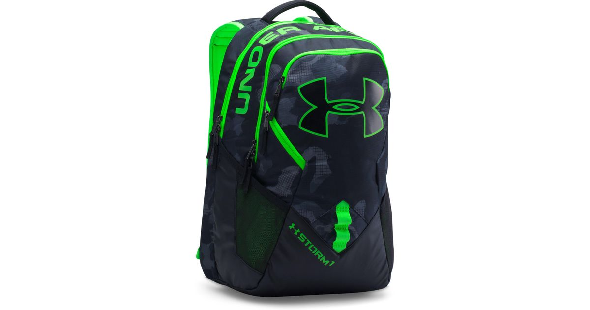46b58a0d1a Under Armour Ua Storm Big Logo Iv Backpack in Green for Men - Lyst