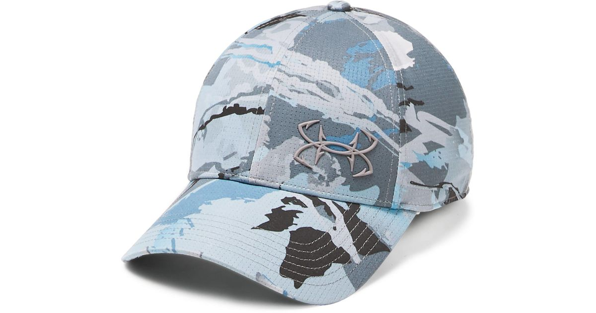af30c99d1d1 Lyst - Under Armour Fish Coolswitch Armourvent Cap in Blue for Men