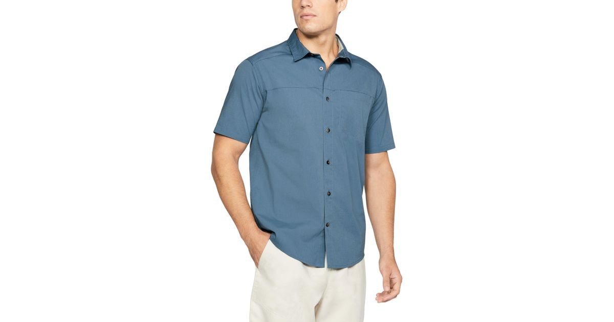 bb7fda4d Under Armour Pierpoint Short-sleeve Shirt in Blue for Men - Lyst
