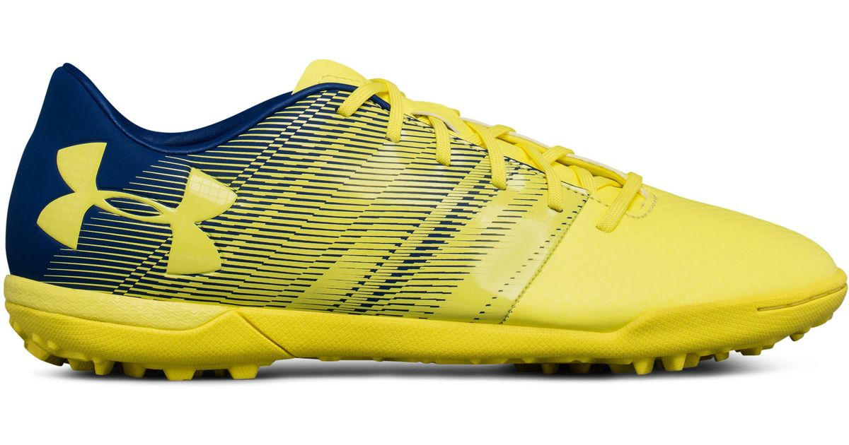 Under Armour Synthetic Men S Ua Spotlight Turf Soccer Shoes In Yellow For Men Lyst