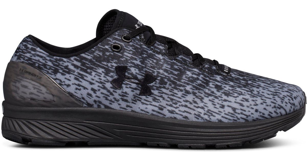 buy popular b0357 11839 Under Armour Black Men's Ua Charged Bandit 3 Ombre Running Shoes for men
