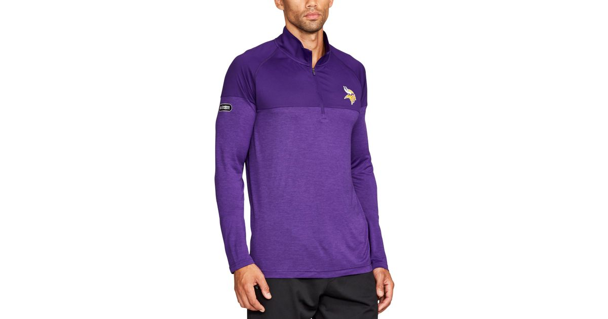 a50383429 Lyst - Under Armour Men s Nfl Combine Authentic Ua Techtm Twist 1⁄4 Zip  Long Sleeve Shirt in Purple for Men