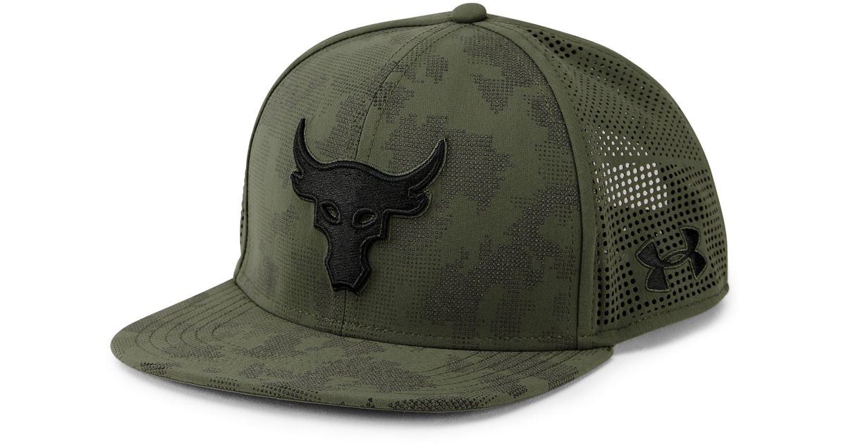 ab9b287159b ... new arrivals lyst under armour ua x project rock supervent snapback cap  in green for men