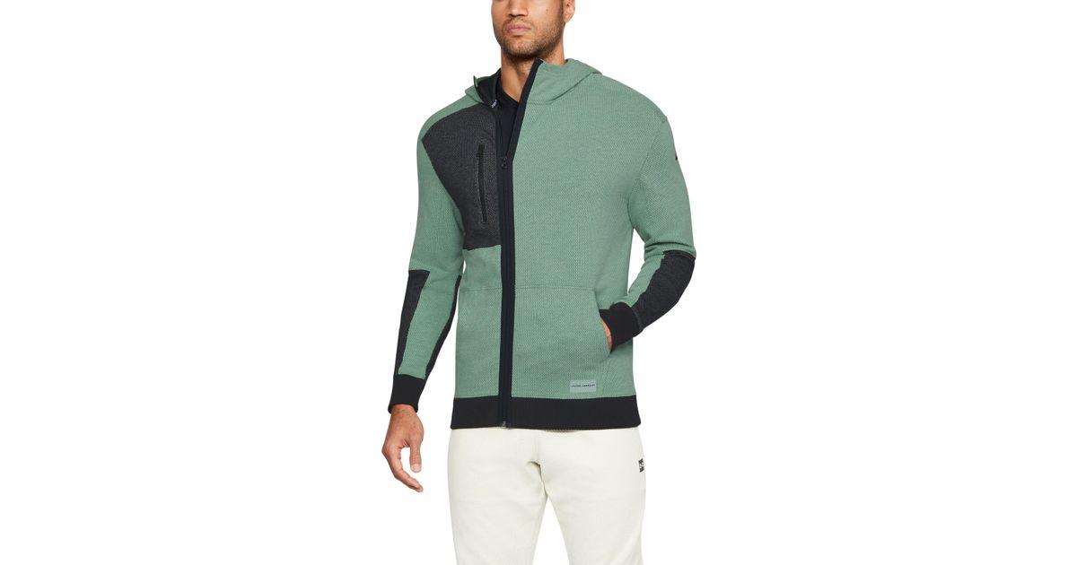 91a42c3f41 Under Armour Green Men's Ua Pursuit Full Zip Hoodie for men