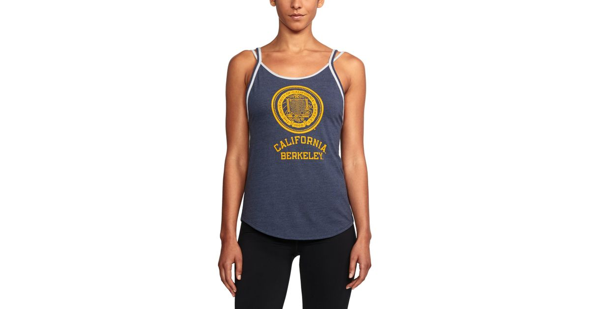 ac6026f89e1044 Lyst - Under Armour Women s Cal Bears Ua Iconic Tank in Blue