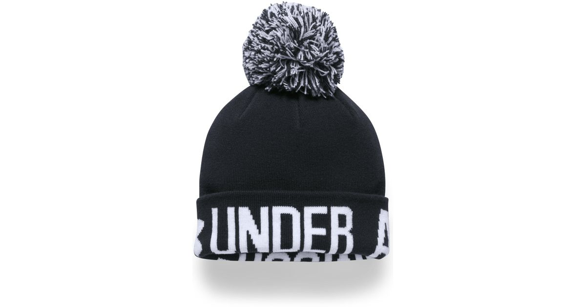 Lyst - Under Armour Women s Ua Graphic Pom Beanie in Black 8e7aaa4b098