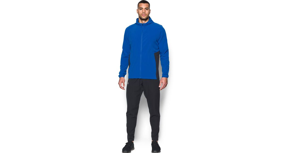 Activewear Jackets Under Armour Outrun The Storm Mens Running Jacket Blue Clothing, Shoes & Accessories