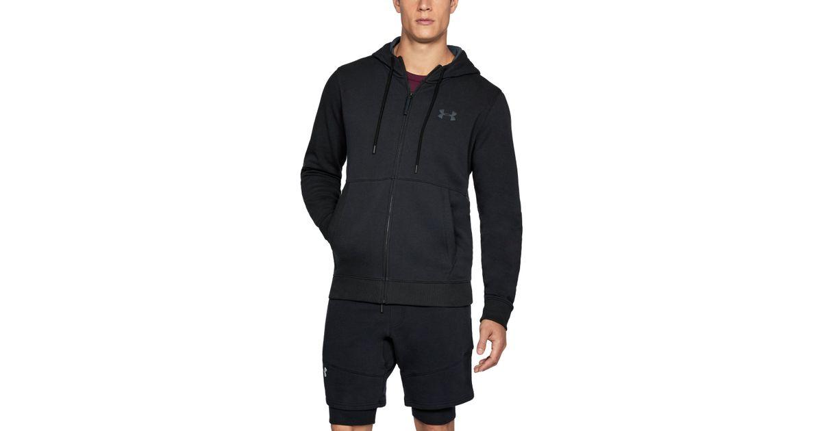 aac5b3d71c Under Armour Black Men's Ua Threadbornetm Fleece Full Zip Hoodie for men