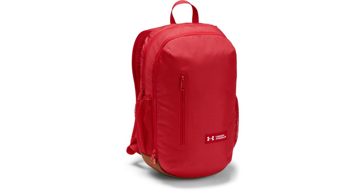 23fce83851d Under Armour Roland Backpack in Red - Lyst