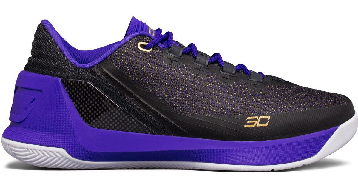 best service 9d51c 98ac3 Under Armour Purple Men's Ua Curry 3 Low Basketball Shoes for men
